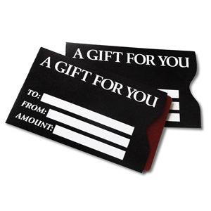 gift card sleeves in bulk